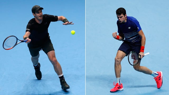 Andy Murray und Milos Raonic (Bildmontage)