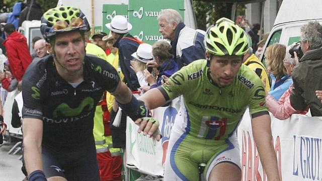 Rui Costa (l.) und Peter Sagan vor 3 Jahren an der Tour de Suisse.