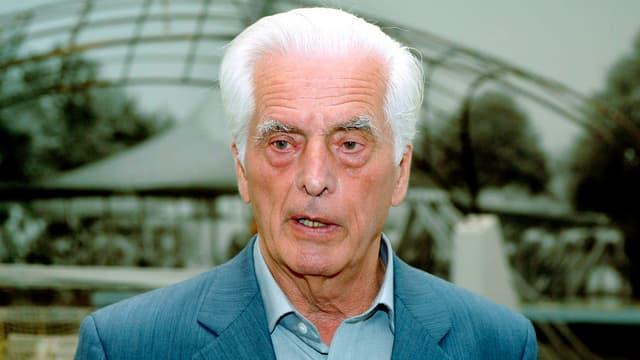 Ein Portrait von Frei Otto.