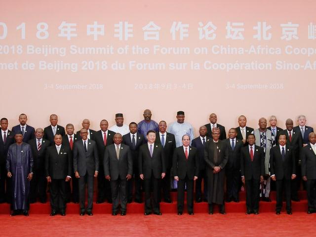 Chinas und afrikanische Staats- und Regierungschefs.