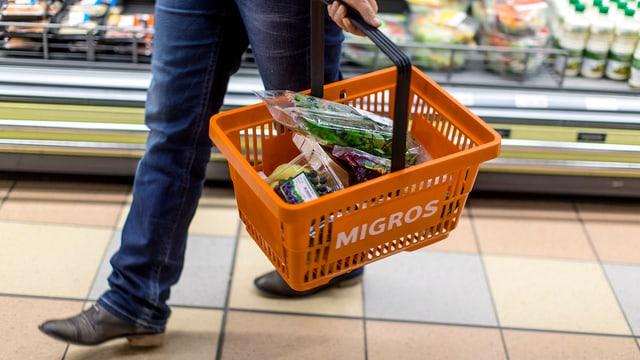 Einkaufskob der Migros