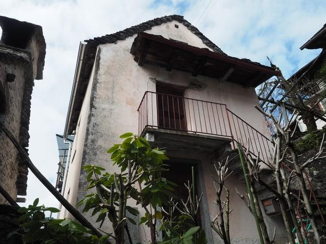 Costa, Centovalli, Rustico mit verputzten Wänden, Sicht von aussen