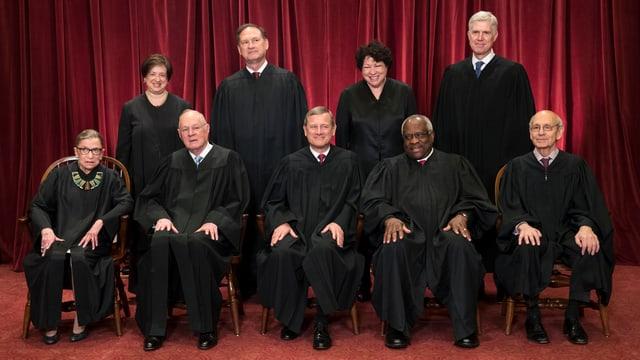 Die Mitglieder des aktuellen Supreme Court