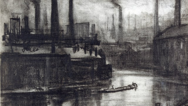 «East London»: Ein Bild von Maler Joseph Pennell.