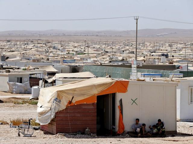 Blick auf das Flüchtlingslager Zaatari