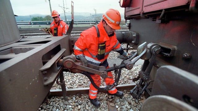 Rangierarbeiten im Güterbahnhof in Dietikon
