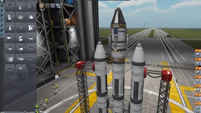 Stabil sieht die Rakete mit drei Rohren jedenfalls nicht aus.