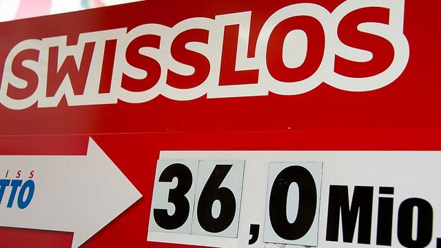 Swisslos-Werbung für Zahlenlotto