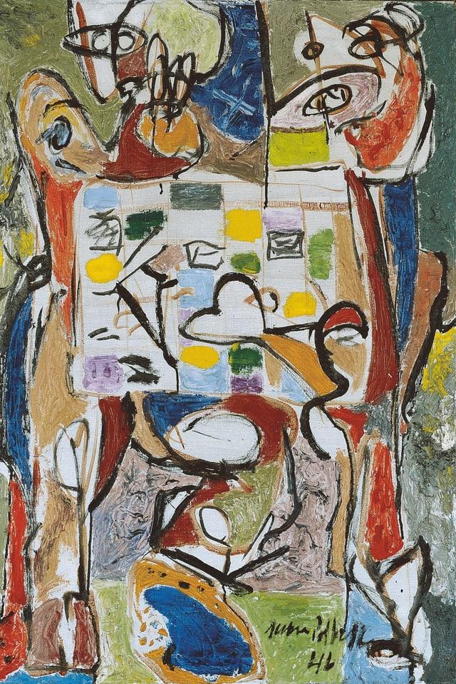 Jackson Pollock: «The Tea Cup», 1946.