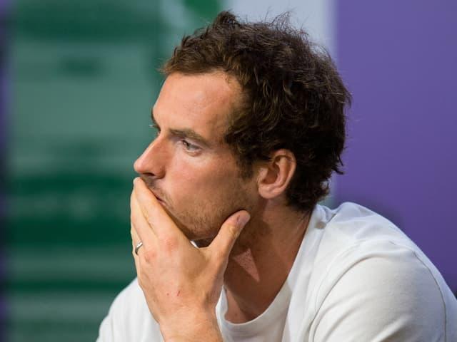 Andy Murray mit Sorgenfalten.