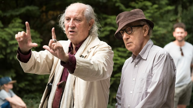 Vittorio Storaro und Woody Allen.