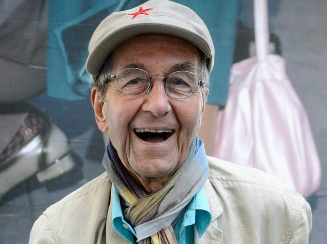 René Burri mit Hut und Brille