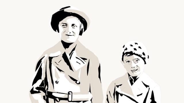Eine Illustration von Melly und Edward Engelberg.