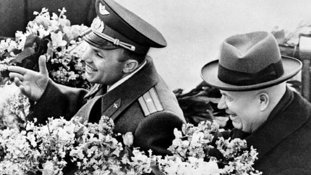 Gagarin bei Chruschtschow.