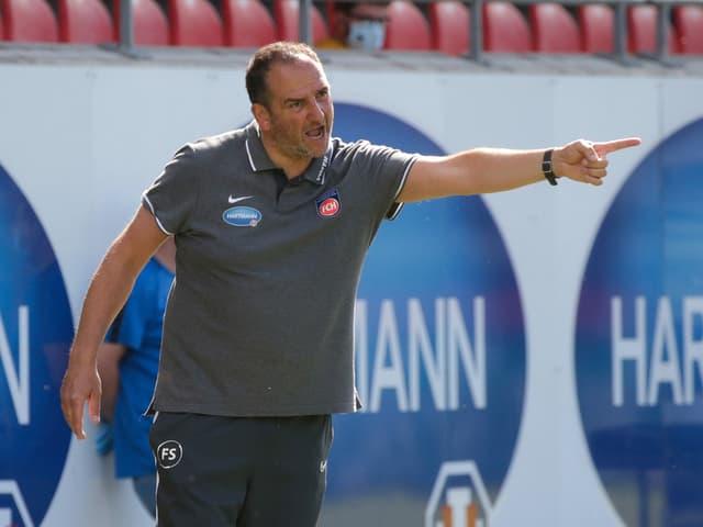 Heidenheim-Coach Frank Schmidt.