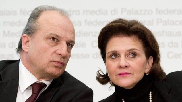 Filippo Leutenegger und Doris Fiala auf einer Aufnahme aus dem Jahr 2010.