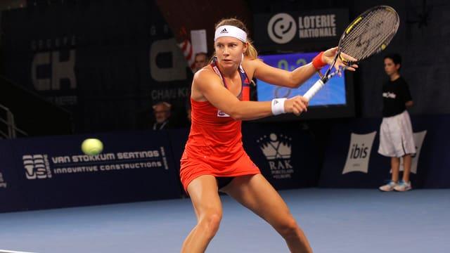 Stefanie Vögele zeigte in Luxemburg bis zur Aufgabe ein starkes Turnier.