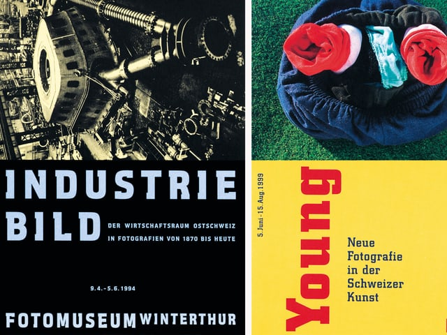 Zwei Plakate des Fotomuseums Winterthur