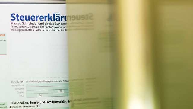 Ein Online-Steuererklärung im Kanton Zürich.