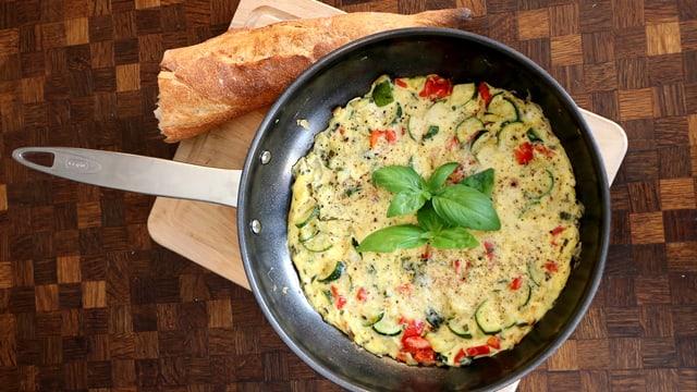 Rezept: Frittata mit Rucola