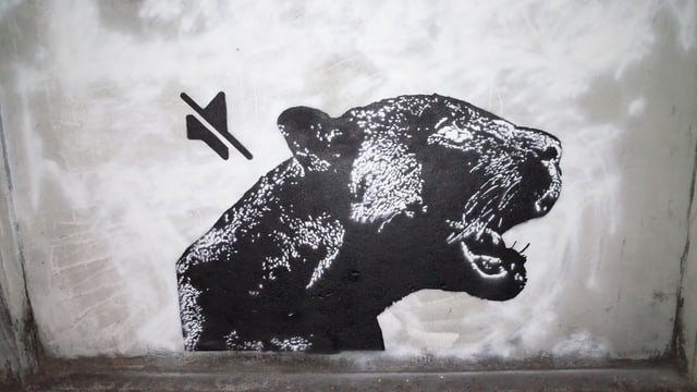 Graffito eines Panthers.