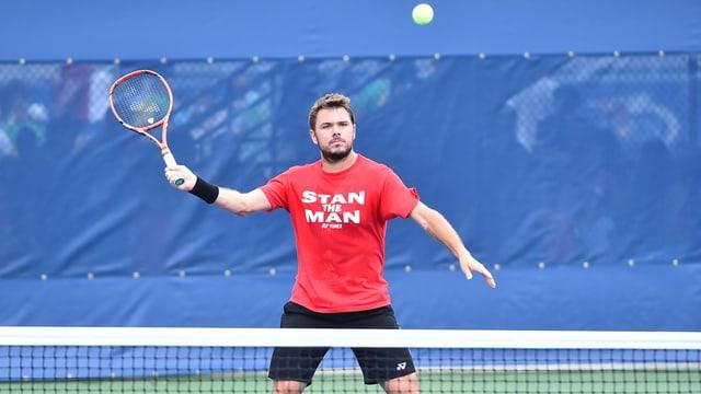 Stan Wawrinka beim Training vor den US Open