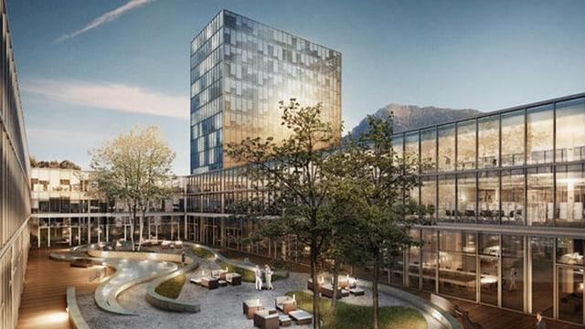 Visualisierung des geplanten Medtech-Center.