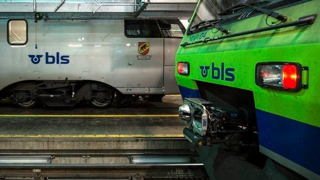 BLS-Zugkompositionen in einer Halle