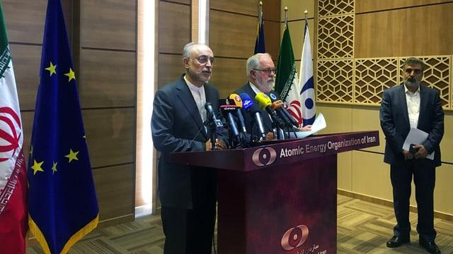 Ali-Akbar Salehi, (linke Seite) und EU-Klimakommissar Miguel Arias Canete