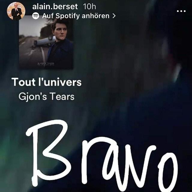 Auf der Social Media Plattform Instagram schreibt Bundesrat Alain Berset «Bravo» und markiert den Schweizer ESC-Sänger Gjon's Tears.