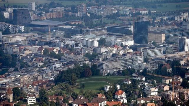 Luftbild Stadt Zug