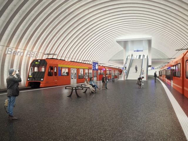 In dals 4 novs perruns sutterrans dals trens regiunals (RBS).