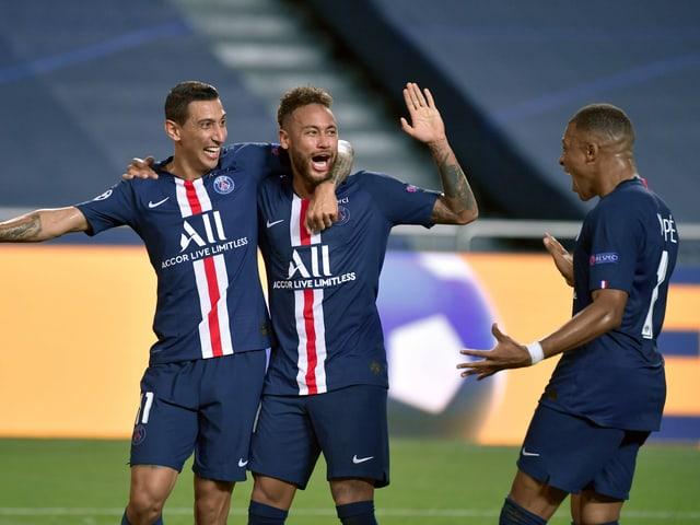 Angel Di Maria, Neymar und Killian Mbappé