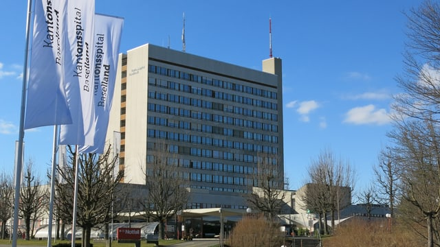 Aussenansicht des Kantonsspitals Bruderholz.
