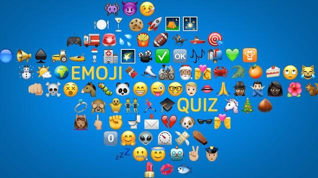 maletg cun differents emojis per il quiz da emojis