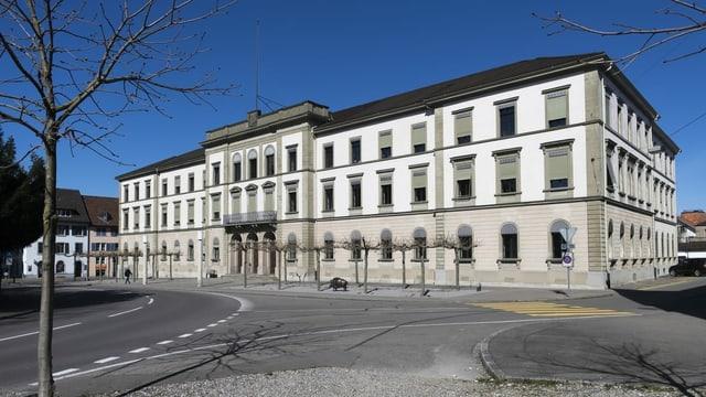 Das Thurgauer Regierungsgebäude in Frauenfeld ist von aussen zu sehen.