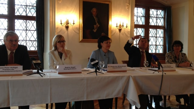 Hans-Peter Hulliger, Regine Aeppli, Ursula Gut und Ernst Stocker