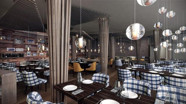 Visualisaziun dal nov restaurant da Manuel Reichenbach a Laax.