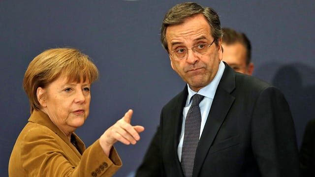 Merkel und Samaras.
