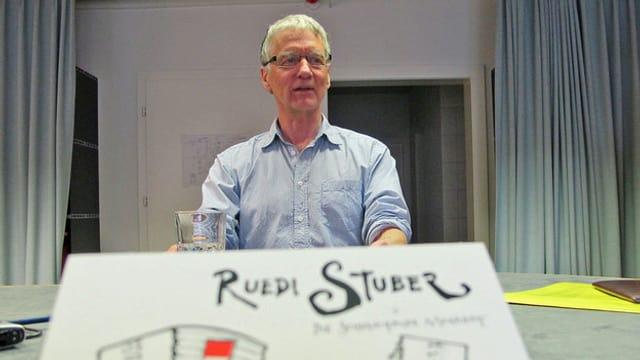 Ruedi Stuber im Studio Solothurn