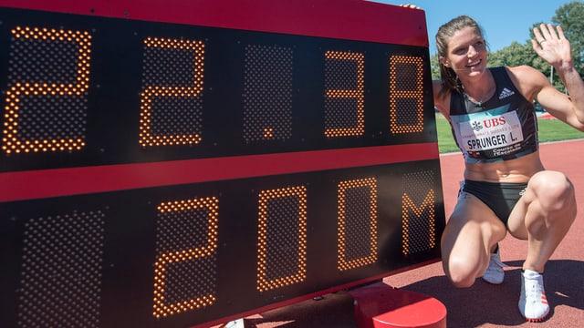 Lea Sprungersper la tabla cun il temp da record svizzer.