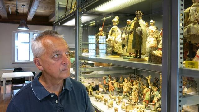 Heinz Horat im historischen Museum.