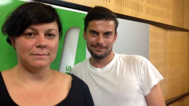 Marion Meier, Bookerin vom Zürich Openair und Virus-Moderator Danilo Bavier.