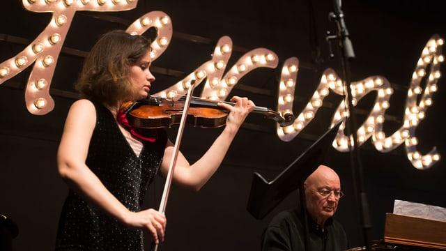 Patricia Kopatchinskaja an der Seite ihres Vaters Viktor in Luzern.