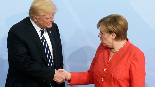 Trump e Merkel.