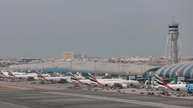 Der internationale Flughafen Dubai.