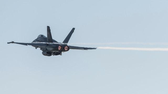 Ein F/A-18 in der Luft.