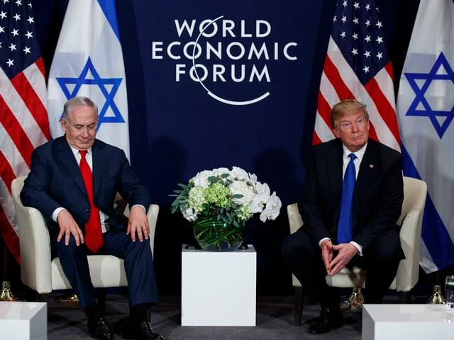 Netanjahu und Trump.