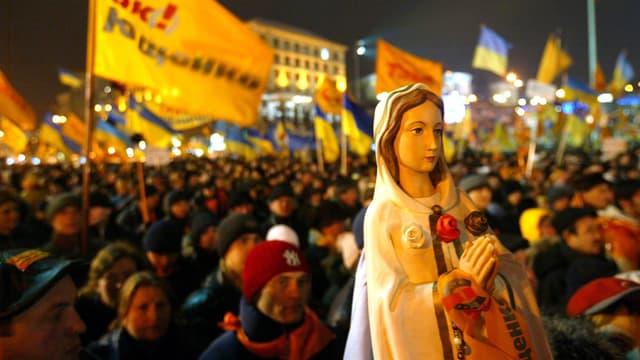 Anhänger von Juschtschenko protestieren.