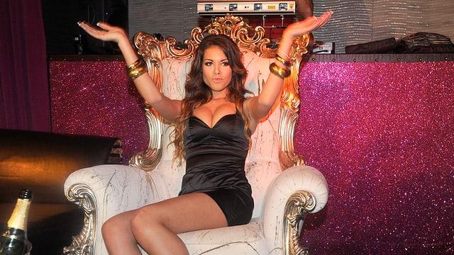 Nachtklubtänzerin Karima al-Mahrough alias Ruby in ein Dico in Mailand.